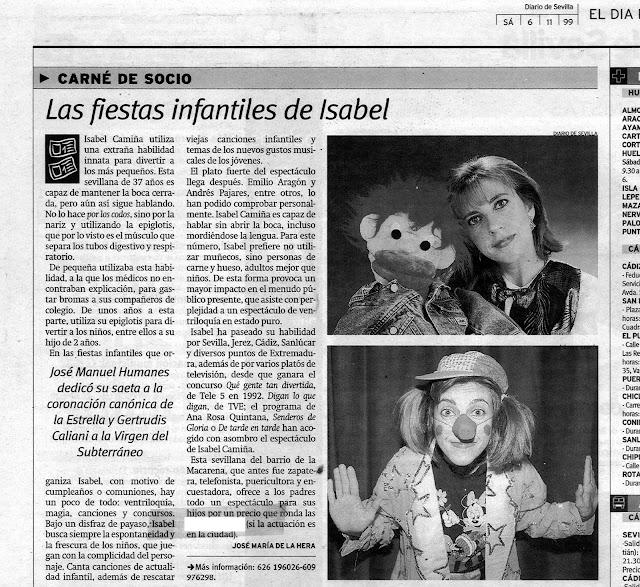 Isabel Camiña en Diario de Sevilla