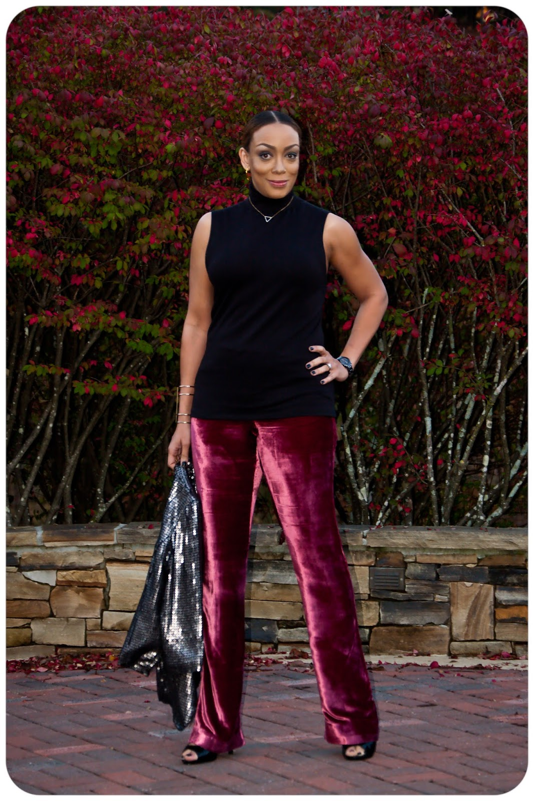 How to Wear Velvet Pants Fall 2015! Vogue 1465 top & Vogue 9032 Rayon Velvet
