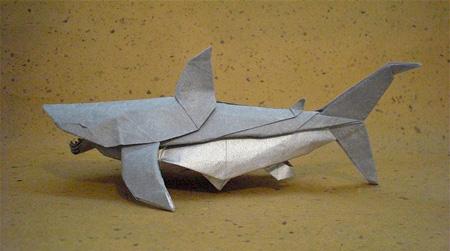 Origami tubarão