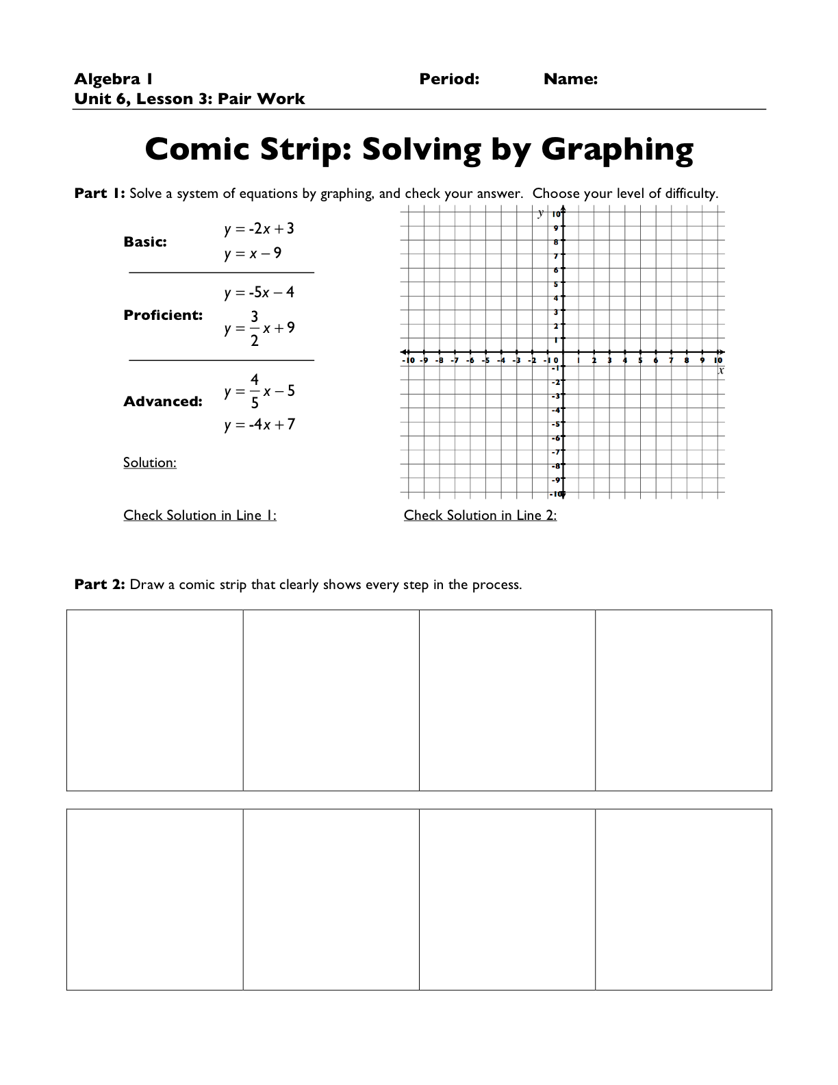 worksheet Graphing Inequalities On A Number Line Worksheet free worksheet graphing inequalities on a number line resourceaholic two ways to use comic strips