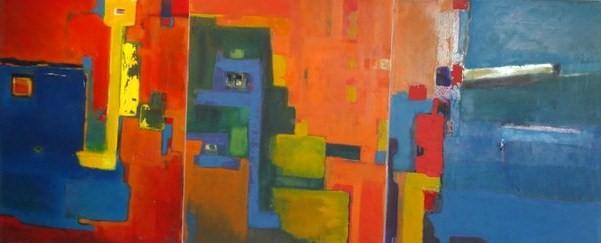 """Nancy Jaime -triptico-"""" Elocuencia del Silencio """" exhibida en la muestra """" mujeres al borde de..."""""""