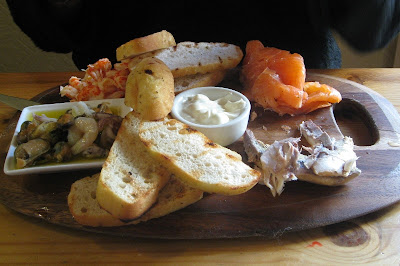 Platter of mixed seafood