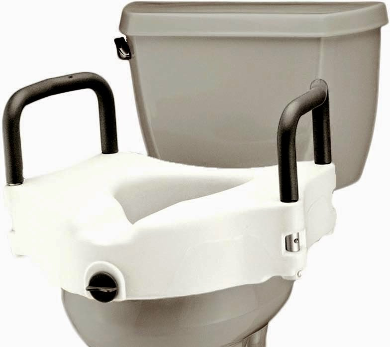 Locking Raised Toilet Seat with Detachable Arms