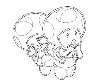 #4 Toad Coloring Page