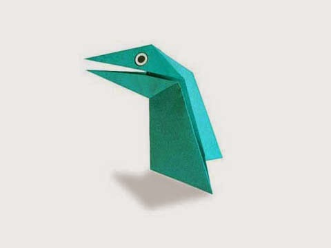 Hướng dẫn cách gấp con khủng long nói chuyện bằng giấy đơn giản - Xếp hình Origami với Video clip