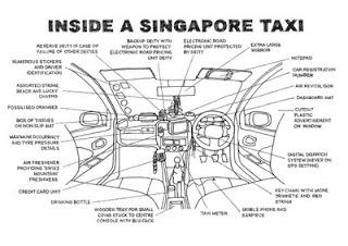 Inside a Singapore taxi