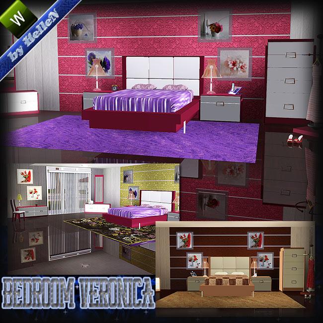 Hellen sims3 veronica bedroom by hellen for Sims 3 6 bedroom house