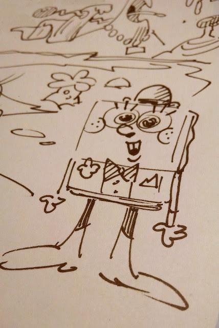 Sherm Cohen SpongeBob doodle