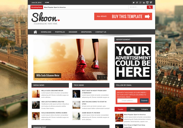 Contoh Tampilan Desain Blog Modern & Trendy
