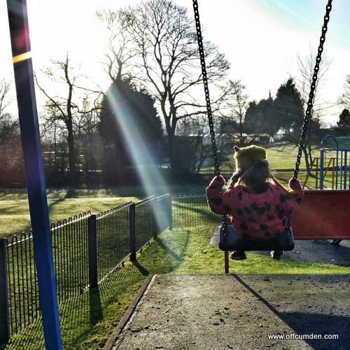 Swinging in the sun