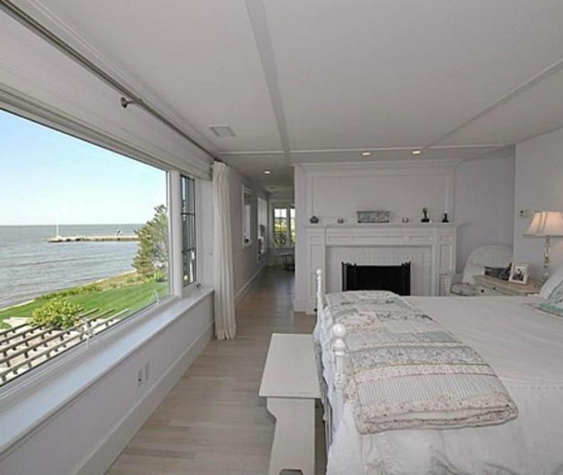 white coastal bedroom