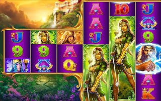 Goddesses of Greece game from House of Fun slots on Facebook