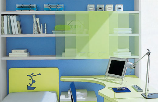 green and blue kids bedroom decorate designs ideas