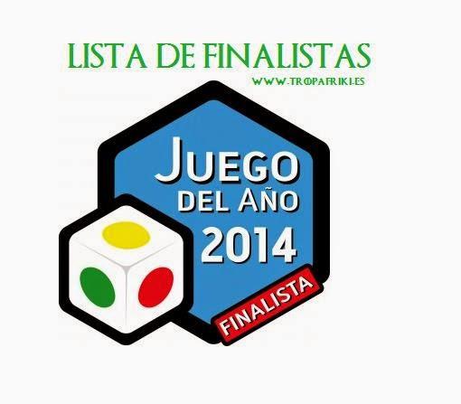 Juegos de mesa finalistas al juego de mesa 2014