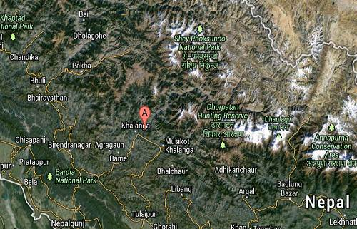 Rukum_Nepal_earthquake_epicenter_map