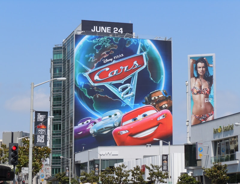 Giant Cars 2 movie billboard Sunset Strip
