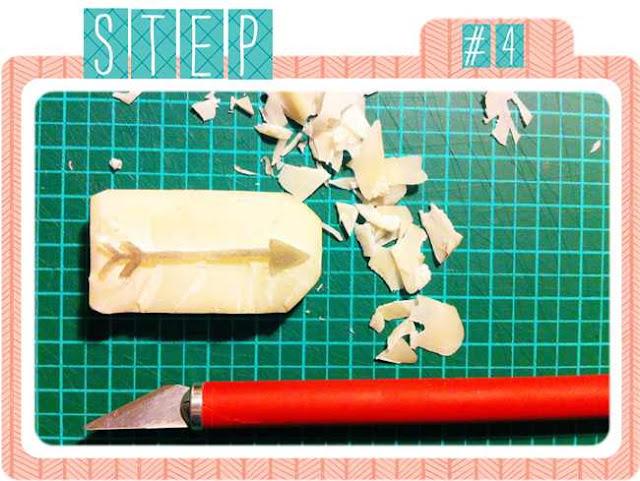 DIY | Stempel selber schnitzen | Radiergummi | www.danipeuss.de