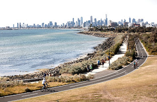 Melbourne from Pt Ormond