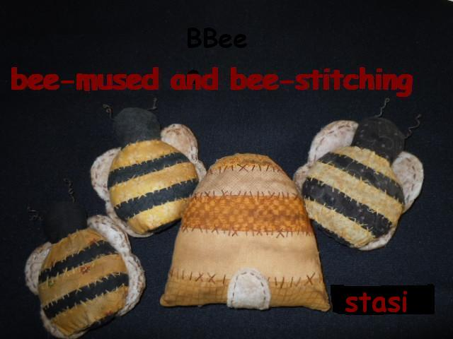 Bee-mused and Bee-stitching