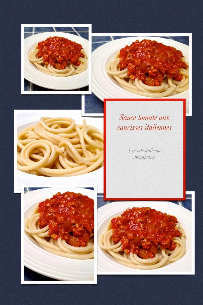 1 recette de sauce tomate sauce la tomate et aux saucisses italiennes. Black Bedroom Furniture Sets. Home Design Ideas