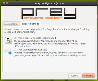 Setup Prey in Ubuntu