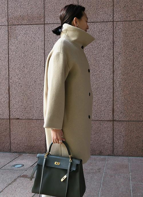 High Neck Wool Coat