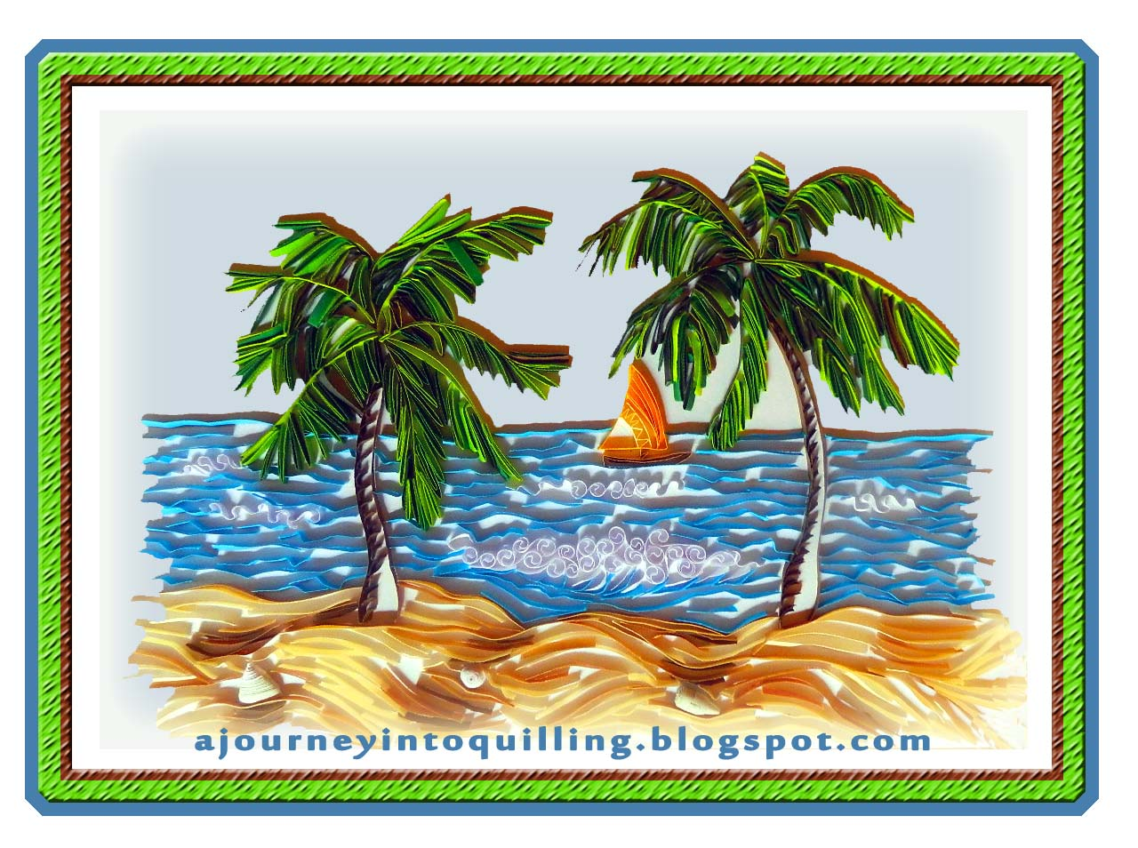 A journey into quilling paper crafting graphic for Landscape design paper