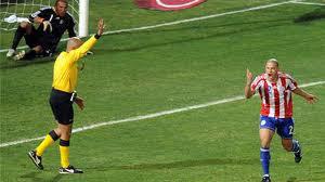 veron hizo el gol de la victoria