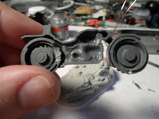 space marine bike body with the holes to accomidate the electronics