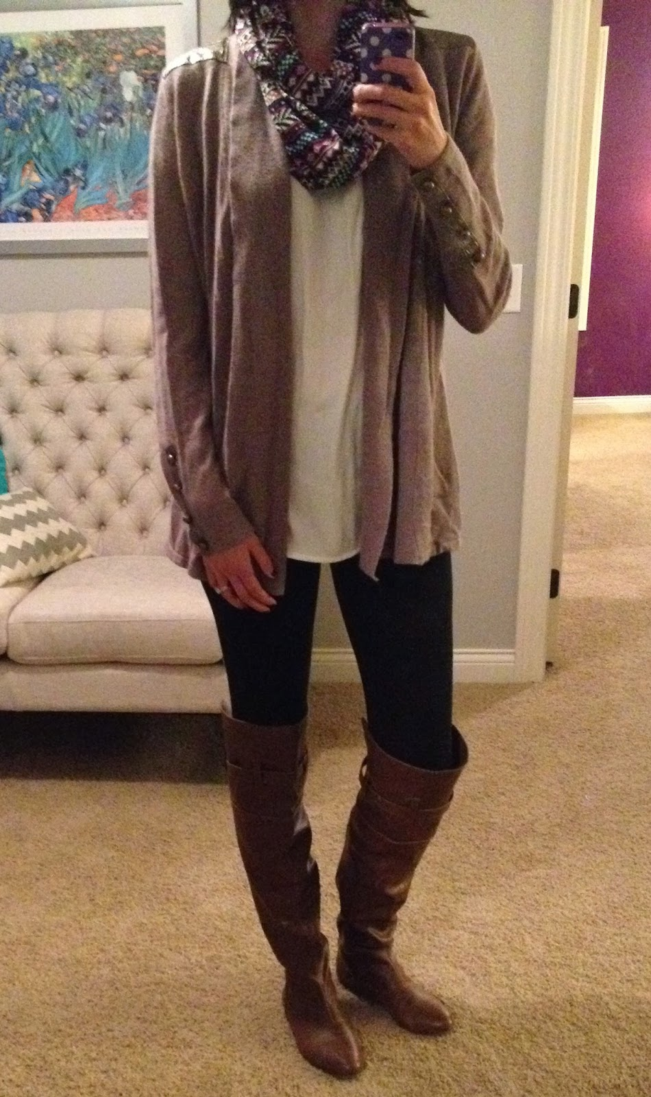 Outfits Fall with leggings forecast to wear in winter in 2019