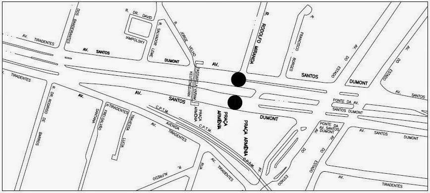 Operação Frente Segura - Cruzamento da Avenida Santos Dumont e Rua Rodolfo Miranda