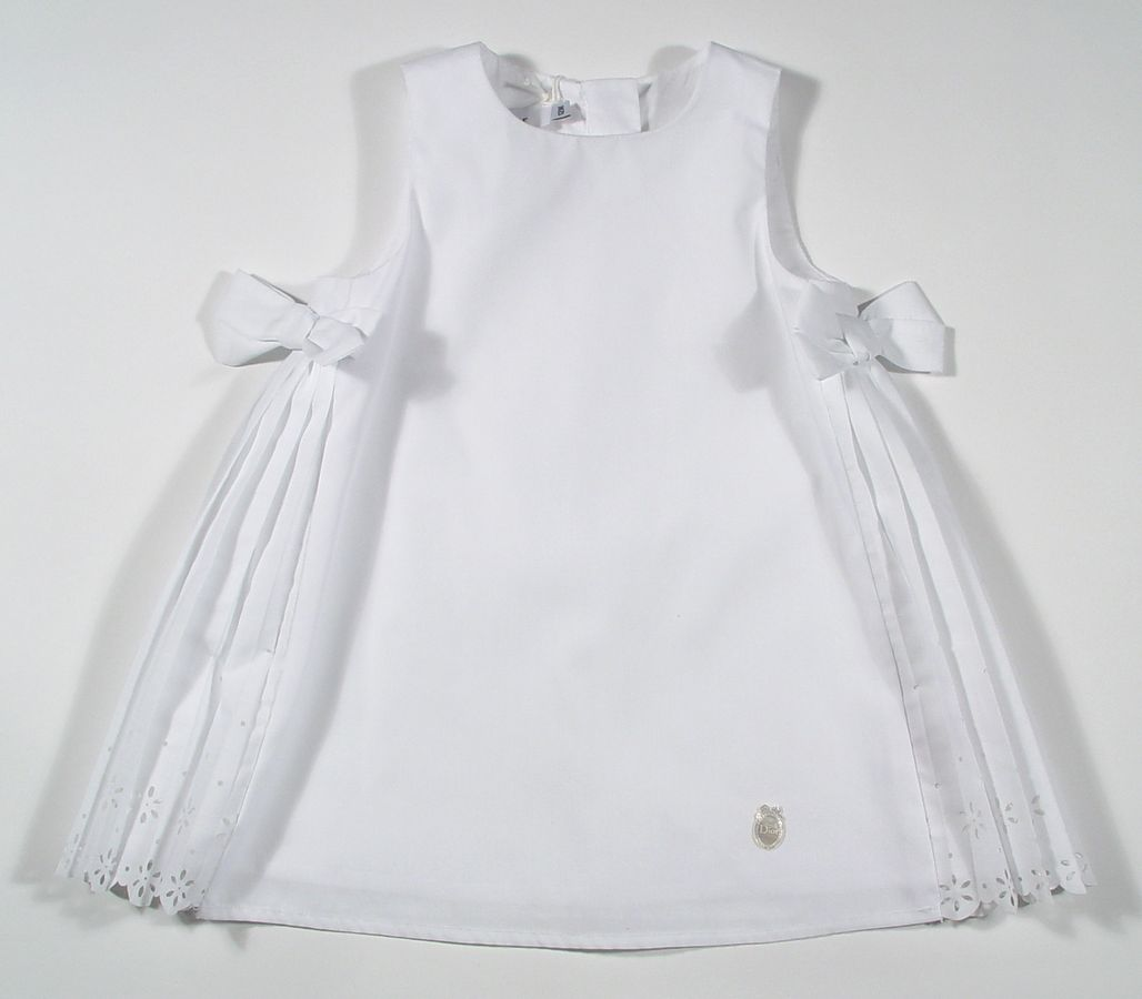 White Cotton Toddler Dress