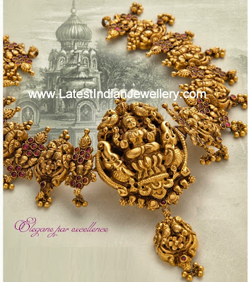 Gold Lakshmi Necklace