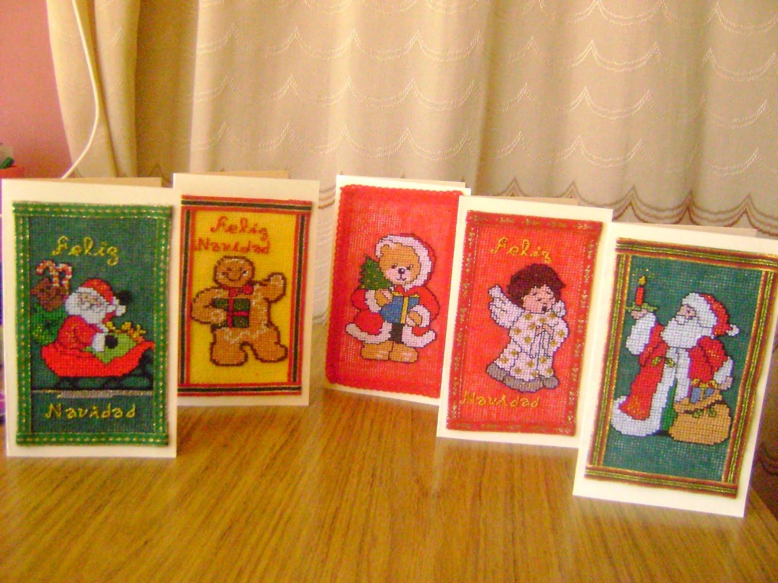 Estas tarjetas por dentro tienen un pensamiento de navidad y para q la