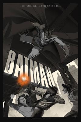 Batman Monotone Variant Screen Print by Stan & Vince x French Paper Art Club x Geek Art