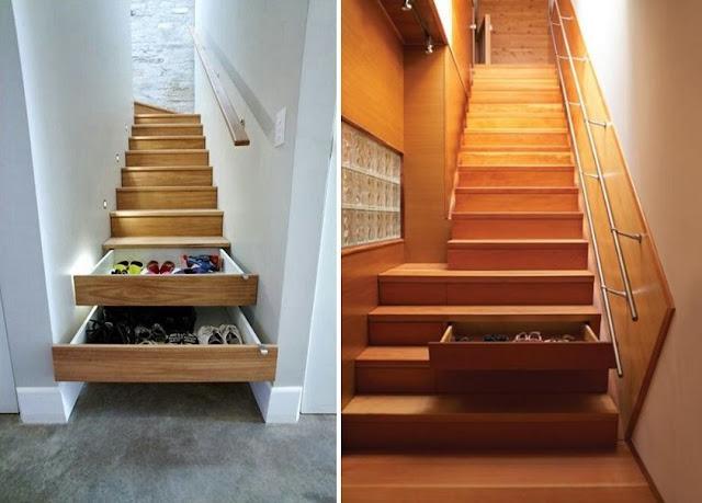 Escalera y almacenaje todo en uno espacios en madera for Escalera de cocina