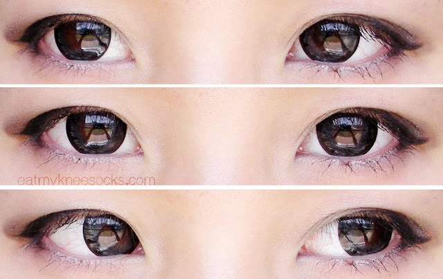 Views of the Maxlook SCL Edge Gray circle lenses from Klenspop.