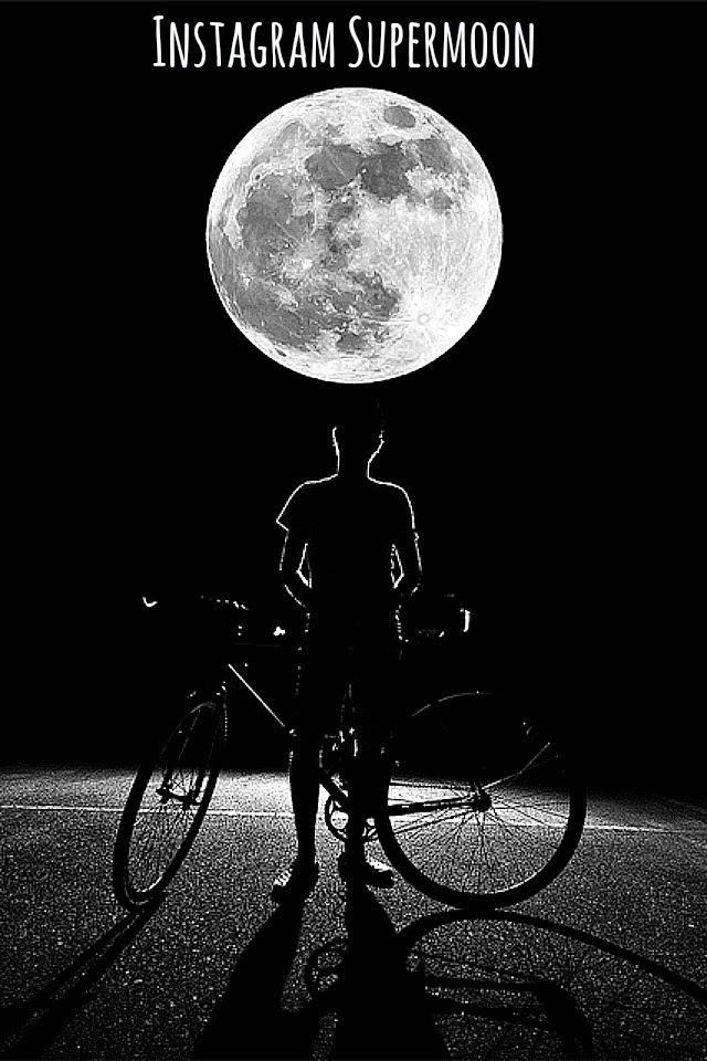 capturing supermoon for Instagram via instagramfanatic.blogspot.com sky watching special