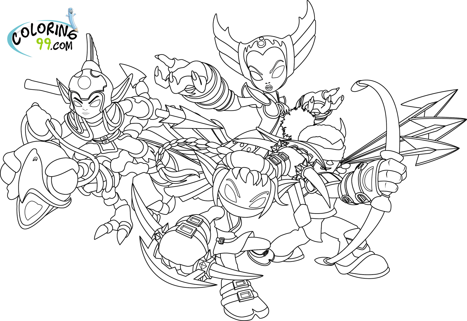 skylanders coloring pages team colors