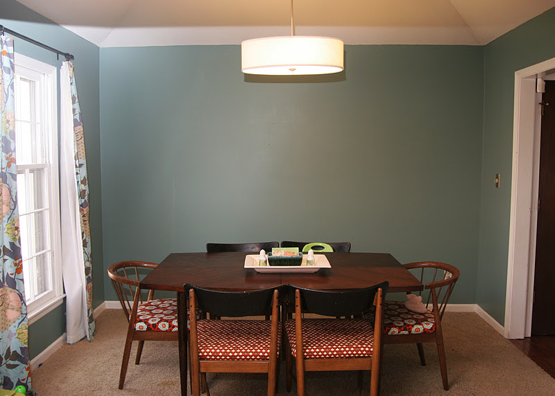 homemade ginger: Fresh Dining Room Paint
