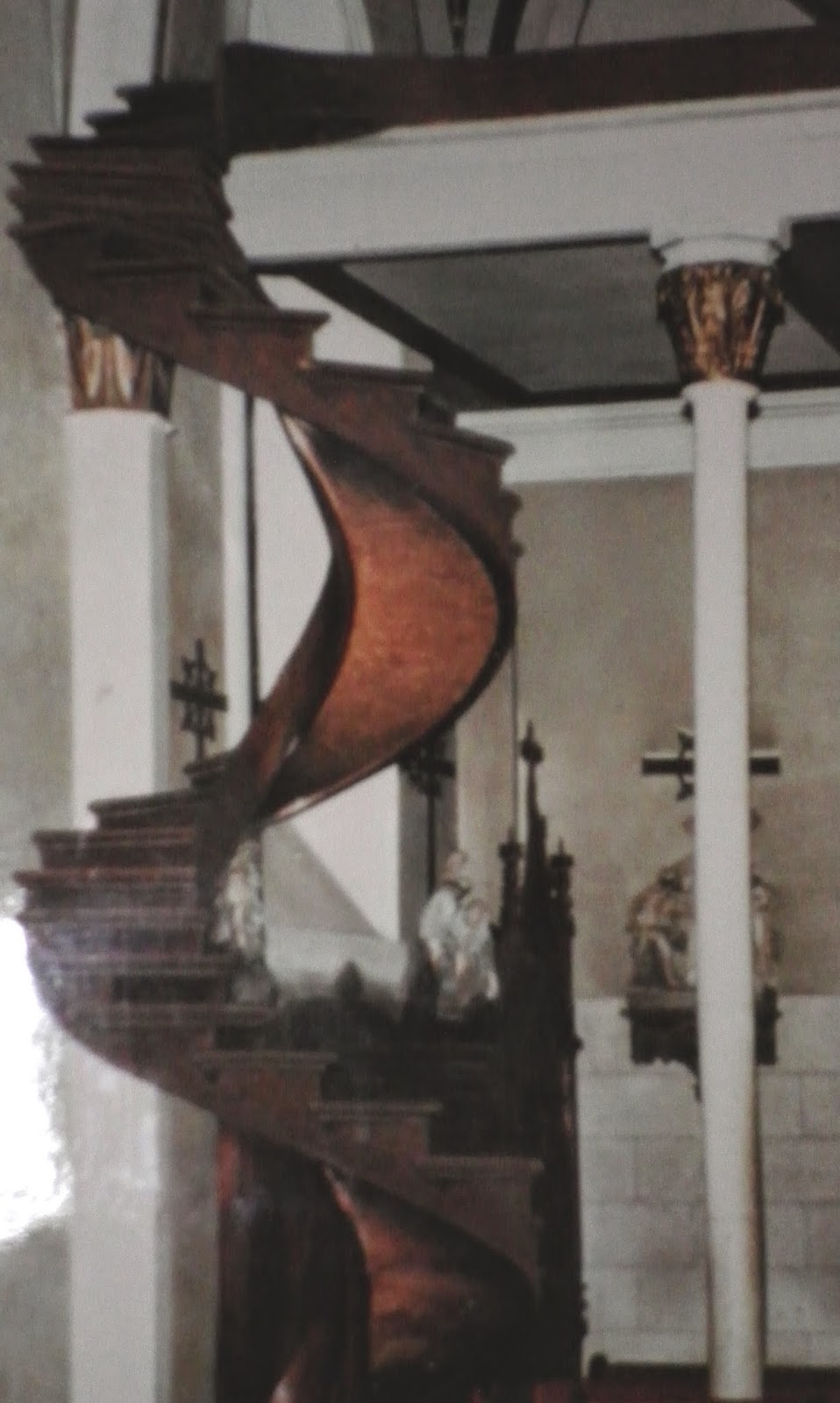 Picture Of A Picture Of The Staircase Without Rails