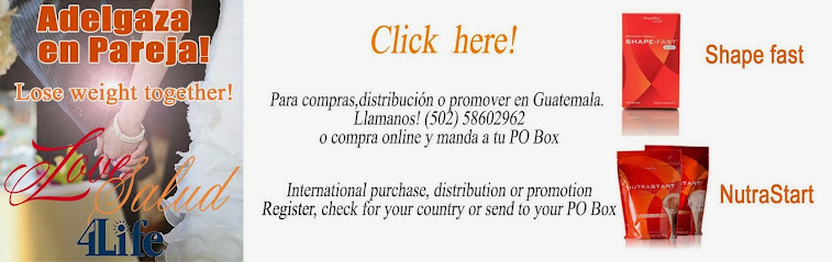 Adelgaza en pareja! Tel 502 -58602962   International buyers or product promotors register online.