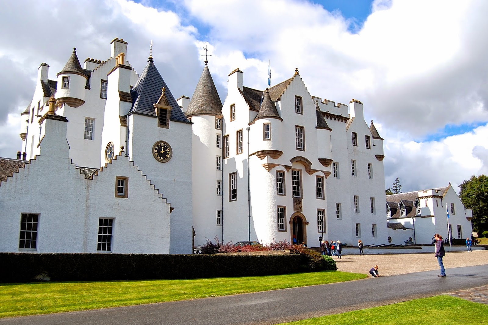 Main entrance of Blair Castle