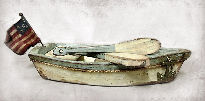 primitive sailing boat