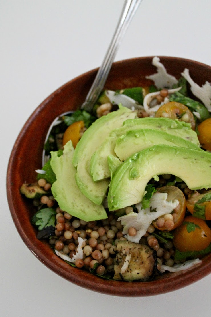 Clean Eating recipes: Healthy Israeli Couscous Summer Salad