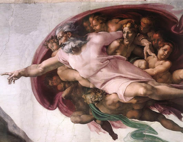 Michelangelo: Creation of Adam by Zeus