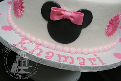 minnie mouse first birthday cake buttercream pink