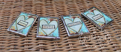 Hand-soldered art charms with inspirational messages by A Joyful Soul.com