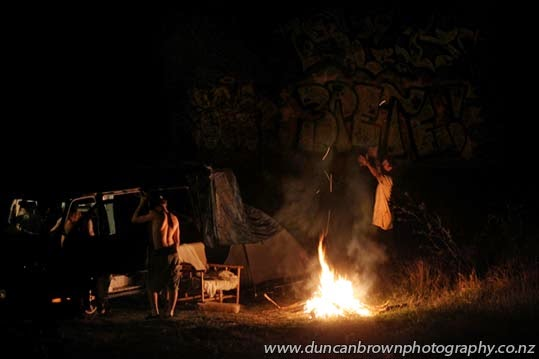 Oh, to be young again, riverside campfire by the Ngaruroro photograph