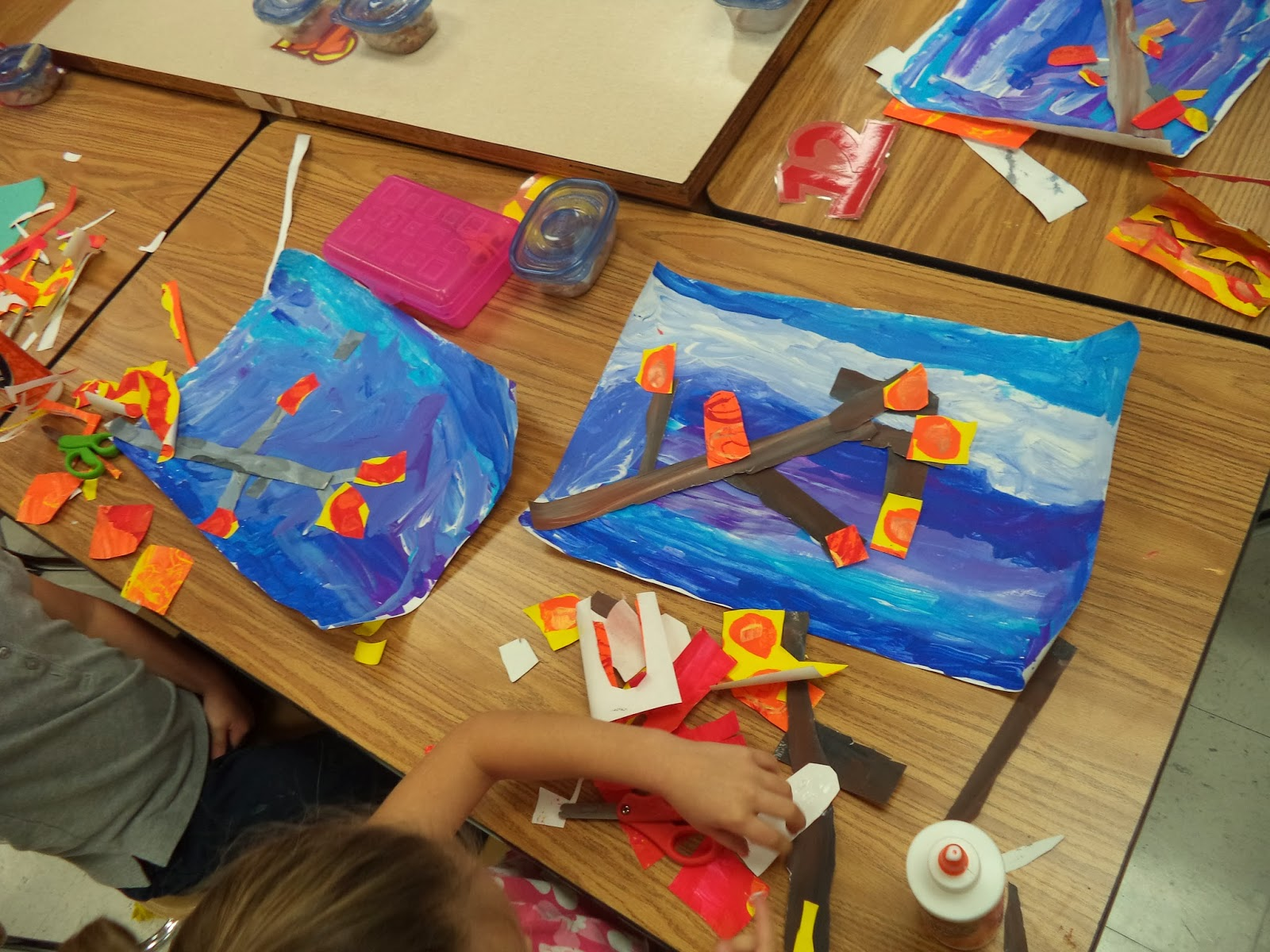 Art with mr e eric carle inspired collage eric carle inspired collage nvjuhfo Choice Image